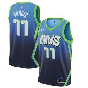 Men's Dallas Mavericks Luka Doncic #77 City Jerse